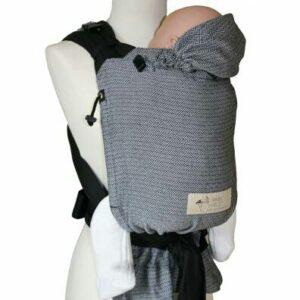 Storchenwiege BabyCarrier schwarz-weiß